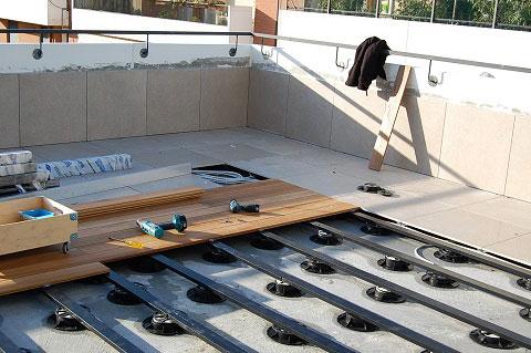 Esterni in legno modulari ad incastro amovibili gibel - Pavimento flottante esterno ...