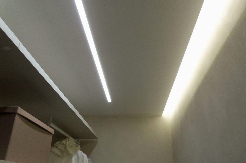 Striscia led soffitto incasso nicchie illuminate strisce led